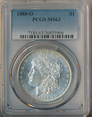 $39 • Buy 1888-o Morgan Silver Dollar **pcgs Certified Ms 63**