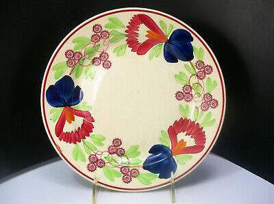 $37.80 • Buy Petrus Regout Maastricht Holland Spongeware Floral Luncheon Plate 9 Inches