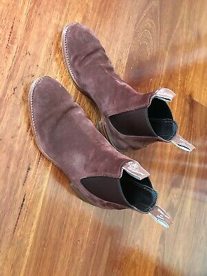 AU75 • Buy RM Williams Suede Turnout Boots 10 G