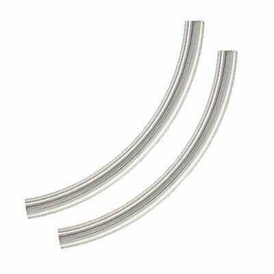 $6.99 • Buy Sterling Silver Curved Noodle Tube Beads 38mm X 3mm (2)