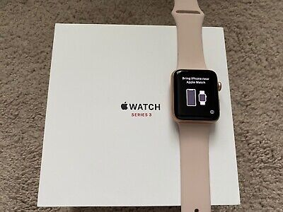 $ CDN71.92 • Buy Apple Watch Series 3 42mm Gold Aluminum Case (GPS + Cellular) W/ New Band