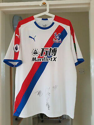 Rare Signed Crystal Palace FC Luka Milivojević #4 Away Shirt UK XL 2018/19 • 149.95£