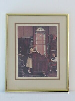$ CDN72.80 • Buy RARE  Marriage License  Norman Rockwell Lithograph 9  X 7 ,  Framed 13  X 11