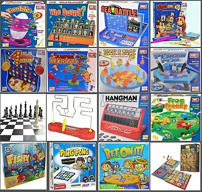 Traditional Classic Modern Full Size Family Childrens Kids Board Games Boardgame • 8.99£