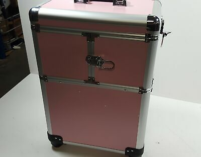 $46.95 • Buy Makeup Case - Professional Rolling Cosmetic Beauty Storage (Pink)