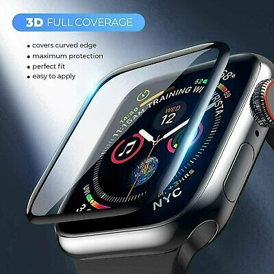 $ CDN6.64 • Buy Apple Watch Series 5/4/3/2/1 Full Tempered Glass Screen Protector 38/42/40/44mm