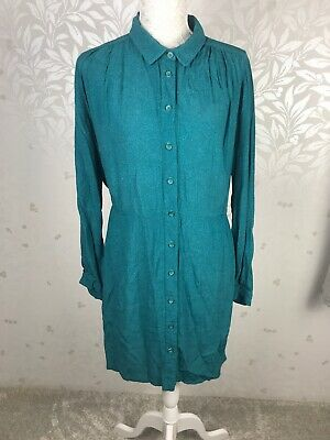 Brora Blue Green Turquoise Dress Size 10 • 24.99£