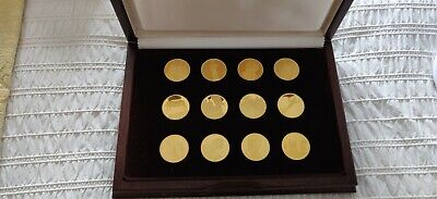 £100 • Buy John Pinches Treasures Of Pompeii Gold Plated Bronze Medallions