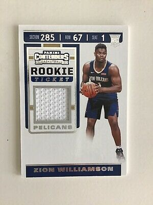 $70 • Buy 2019-20 Panini Contenders Zion Williamson Rookie Ticket Jersey Patch Card RC Hot