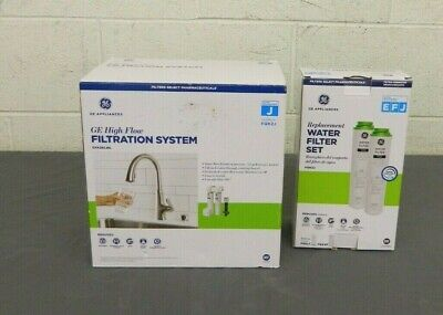 $ CDN125.26 • Buy GE GXK285JBL High Flow Water Filtration System +2x FQK2J Replacement Fitlers NEW