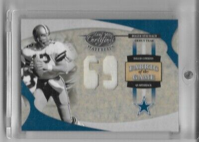 $19.99 • Buy Roger Staubach 2005 Fabric Of The Game Jersey Card /69 Cowboys
