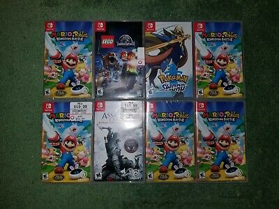 $169.99 • Buy Nintendo Switch Game Lot! Most New! Mario & Rabbids, Pokemon Sword, Assassins 3