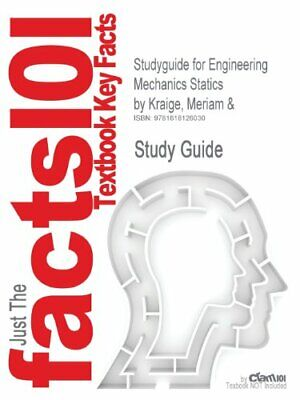 £24.23 • Buy Studyguide For Engineering Mechanics Statics By. Reviews.#