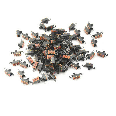 $16.43 • Buy 100x 3 Pin 2 Position Mini Size SPDT Slide Switches On Off PCB 5V 0.3A Switch UP