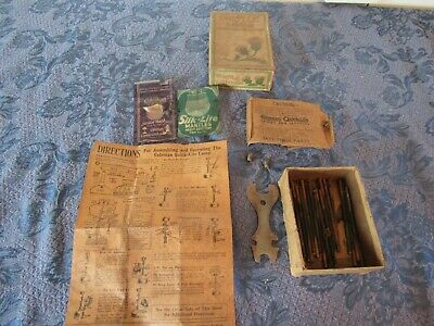 $69.99 • Buy Vintage Coleman Lantern Parts Lot Mantle Gas Lamp Generator Wrench Instructions