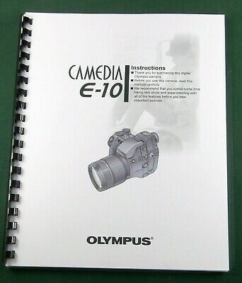 $28.95 • Buy Olympus E-10 Instruction Manual: Comb Bound With Protective Covers!