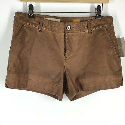 $31.50 • Buy Anthropologie Pilcro And The Letterpress Vegan Leather Shorts Size 29- Cedar