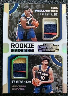 $701.01 • Buy 2019 Panini Contenders Rookie Ticket Logo Patch 1/10 Zion Williamson RC Jersey #