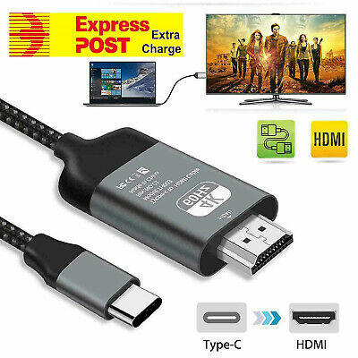 AU21.95 • Buy 4K USB Type C To HDMI HDTV Cable Adapter For Huawei Mate 20 30 P20 P30 P40 Pro