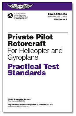 $ CDN7.22 • Buy Practical Test Standards: Private Pilot Rotorcraft (Helicopter And Gyroplane)