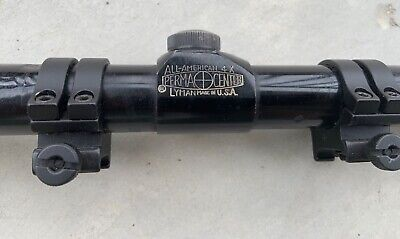 $20 • Buy Vintage Lyman  All-american 4x Perma-center Scope With Rings