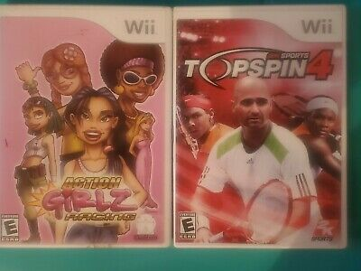 Wii Games Lot Of 2 Tennis And Girls Racing Games • 9.32£