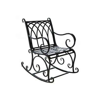 $200 • Buy Black Rocking Chair Outdoor Metal Scroll