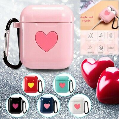 $ CDN4.62 • Buy Heart Earphone Case For Apple Airpods Strap Silicone Headphone Case Protective
