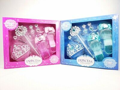 Girls Fancy Dress Princess Accessories Tiara Wand Ring Shoes Earrings Plastic • 12.99£