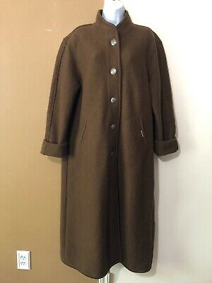 $39.99 • Buy Geiger Austria Boiled Wool Brown Overcoat Coat Jacket EUR Sz 40 US 10 *Flaw