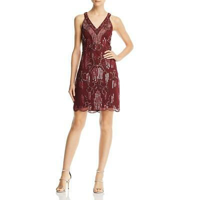 $35.69 • Buy Aidan Mattox Womens Sequined V-Neck Party Cocktail Dress BHFO 5575
