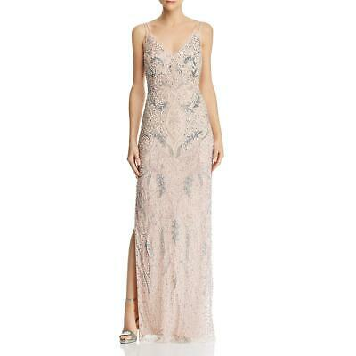 $26.34 • Buy Aidan Mattox Womens Pink Beaded Strappy Formal Evening Dress Gown 2 BHFO 7004
