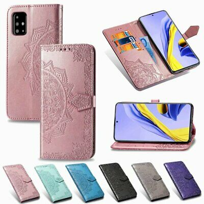 AU12.99 • Buy Embossed Magnetic Card S Lot Holder Wallet PU Leather Flip Case Cover For OPPO