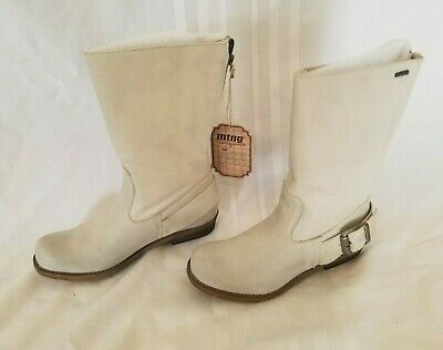 $29.99 • Buy MTNG Bill Hielo Off White Leather Mid-calf Boots ~ Size 37/US 6-6.5 ~  Brand New