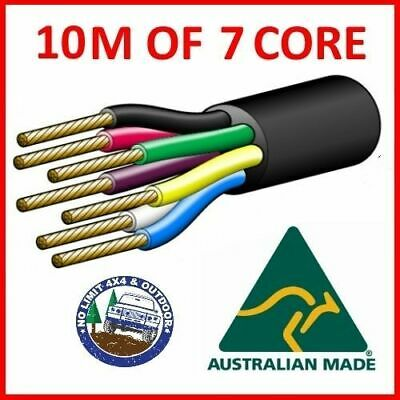 AU22 • Buy 10m Of 7 Core Wire Cable Trailer Automotive Boat Caravan Coil V90 Pvc Insulated