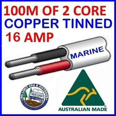 AU110 • Buy 100m Of 2 Core 3mm Wire Marine Tinned Copper Trailer Cable Boat 12v Twin Metres