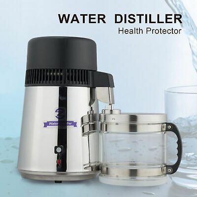 Water Distiller 304 4L  Stainless Steel Purifier Thermostatically Control • 69.98£