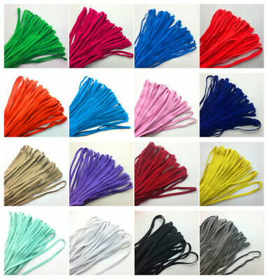 $ CDN1.32 • Buy New 5yds 6mm 1/4  Thickening Satin Elastic Spandex Band Sewing Trim U Pick