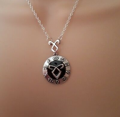 Mortal Instruments Rune Necklace Silver Shadowhunters Clary Jace City Of Bones • 5.50£