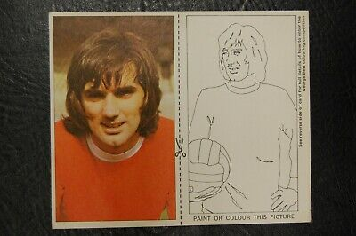 GEORGE BEST MANCHESTER UNITED SMITHS POTATO CRISPS 1970's PICTURE CARD No10 • 49.95£