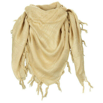 $12.77 • Buy Military Shemagh Arab Tactical Desert 100%Cotton Keffiyeh Scarf Face Mask COYOTE