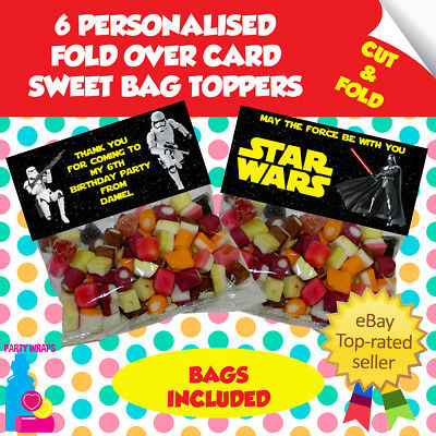 £2 • Buy 6 Personalised Star Wars Stormtrooper Fold Over Cards/Bags Birthday Party Favour