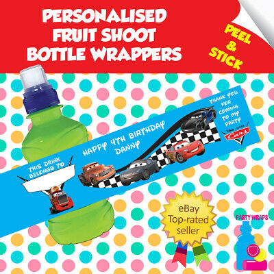 £2 • Buy PERSONALISED DISNEY CARS Birthday Party Stickers & Wrappers & Tent Cards