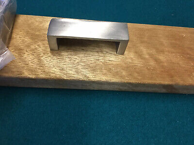 $75 • Buy 7 Brushed Nickel On Solid Brass Square Cup Pulls , 3  Holes, FREE SHIPPING
