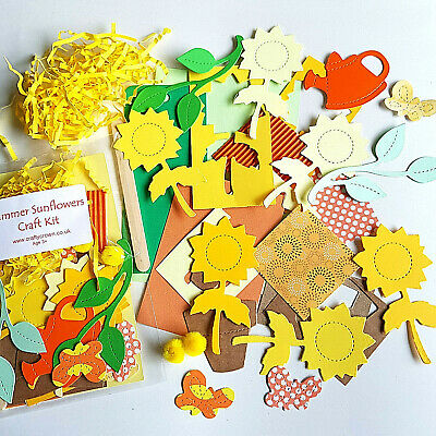 Summer Sunflowers Craft Kit / Children / New / Cardmaking / Party • 1.25£