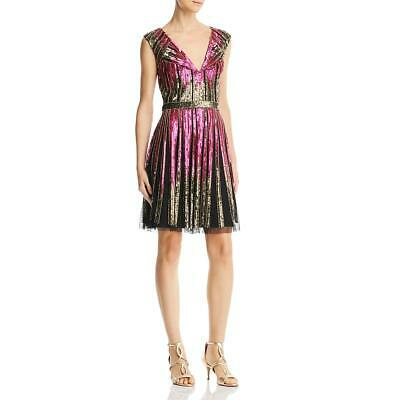 $38.24 • Buy Aidan Mattox Womens Pink Sequined Mesh Party Cocktail Dress 12 BHFO 8217