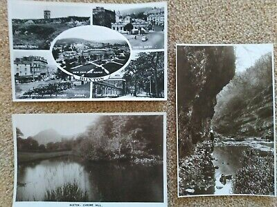 £7.50 • Buy Lot Of 3 VINTAGE Postcards From DERBYSHIRE - Buxton, Chrome Hill, Miller's Dale