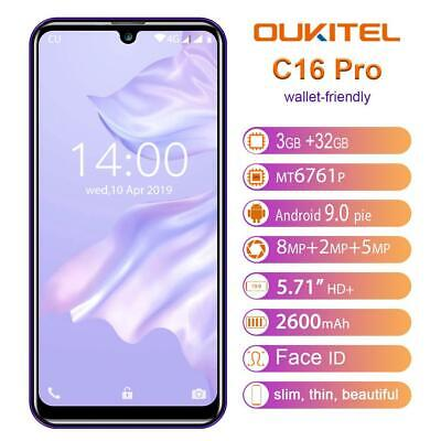 AU87.20 • Buy OUKITEL C16PRO Mobile Phone Dual 4G 5.71'' 3+32GB LTE Android 9.0 FREE GIFT