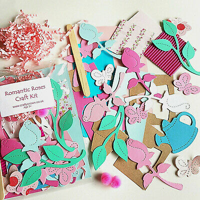 Romantic Roses Craft Kit / Children / New / Cardmaking / Party • 1.25£