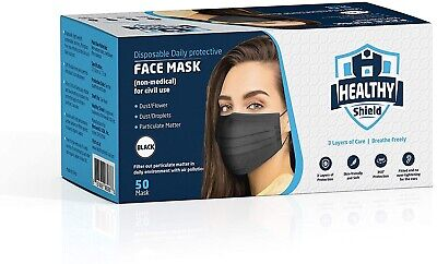 $9.42 • Buy 10 PCS Face Mask Medical Surgical Dental Disposable 3-Ply Ear-loop Mouth Cover